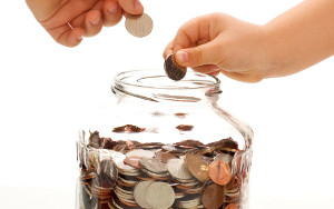 Coin Money Saving Jar Wallpaper