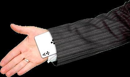 main avec carte